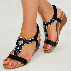 Damen Schuhe Sandalen Sandaletten Schwarz Silber Glitzer Espandrillos Flats