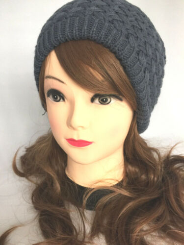 New Women Winter Warm Knit Slouchy Beanie Oversized Thick Cap Hat Unisex Slouch