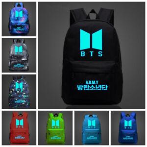 KPOP BTS New Logo Backpack Bangtan Boys School Shoulder Bag Jimin ...