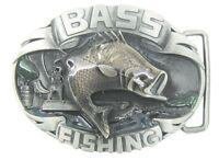 Bass Fishing Belt Buckle Usa Shipper