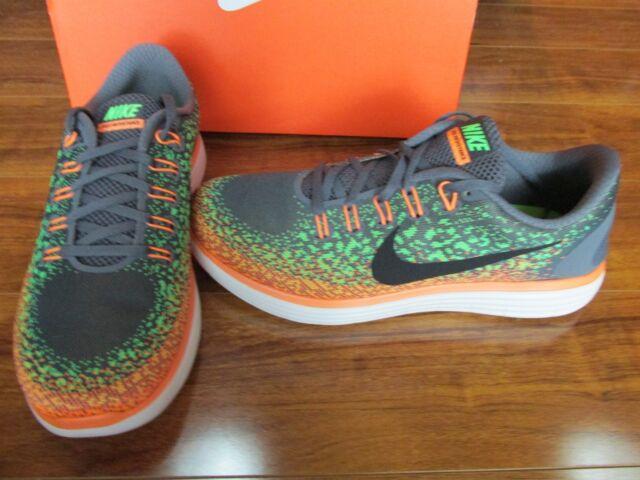 a4cb5f9208ff NEW NIKE Free Run Distance Running Shoes MENS 11 Grey Green Orange 827115  003