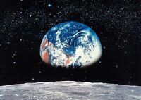 Wandbild 'earth' Blick Vom Mond Foto Tapete Wandverkleidung Für Schlafzimmer