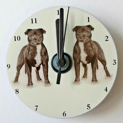 CD Clock by Curiosity Crafts C Staffordshire Bull Terrier