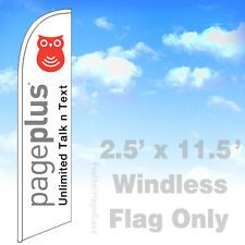 Flag Only 25 Windless Swooper Feather Banner Sign Pageplus Unlimited V2w