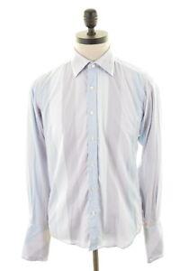 TED-BAKER-Mens-Shirt-Medium-Multi-Stripes-Cotton