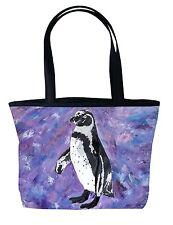 Penguins Handbag Tote Bag by Salvador Kitti - Support Wildlife Conservation