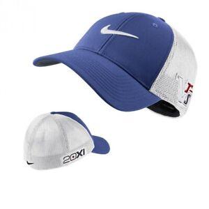 3574d2324ea4a NEW! Nike Men's Tour Flex Fit Golf Cap Hat-Blue/White M/L ...