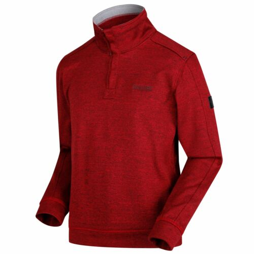 Regatta Men/'s Lardner Heavyweight Knit Effect Half-Zip Fleece Red