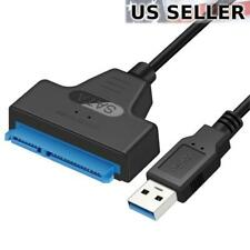 "USB 3.0 to SATA III HDD SSD 2.5"" Hard Drive Adapter Cable 22-Pin Data Power UASP"