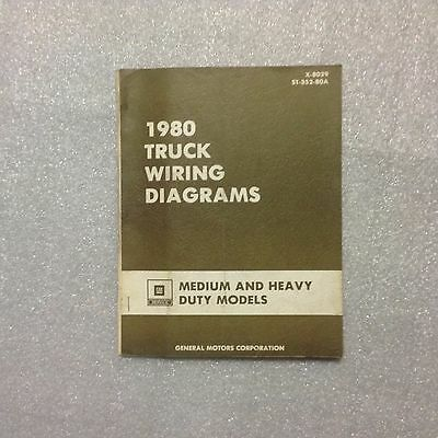 1980 GM Truck Wiring Diagrams manual X-8039 for Models ...