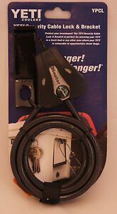 BRAND-NEW-YETI-Python-Security-Cable-Lock-with-Bracket-Free-Shipping