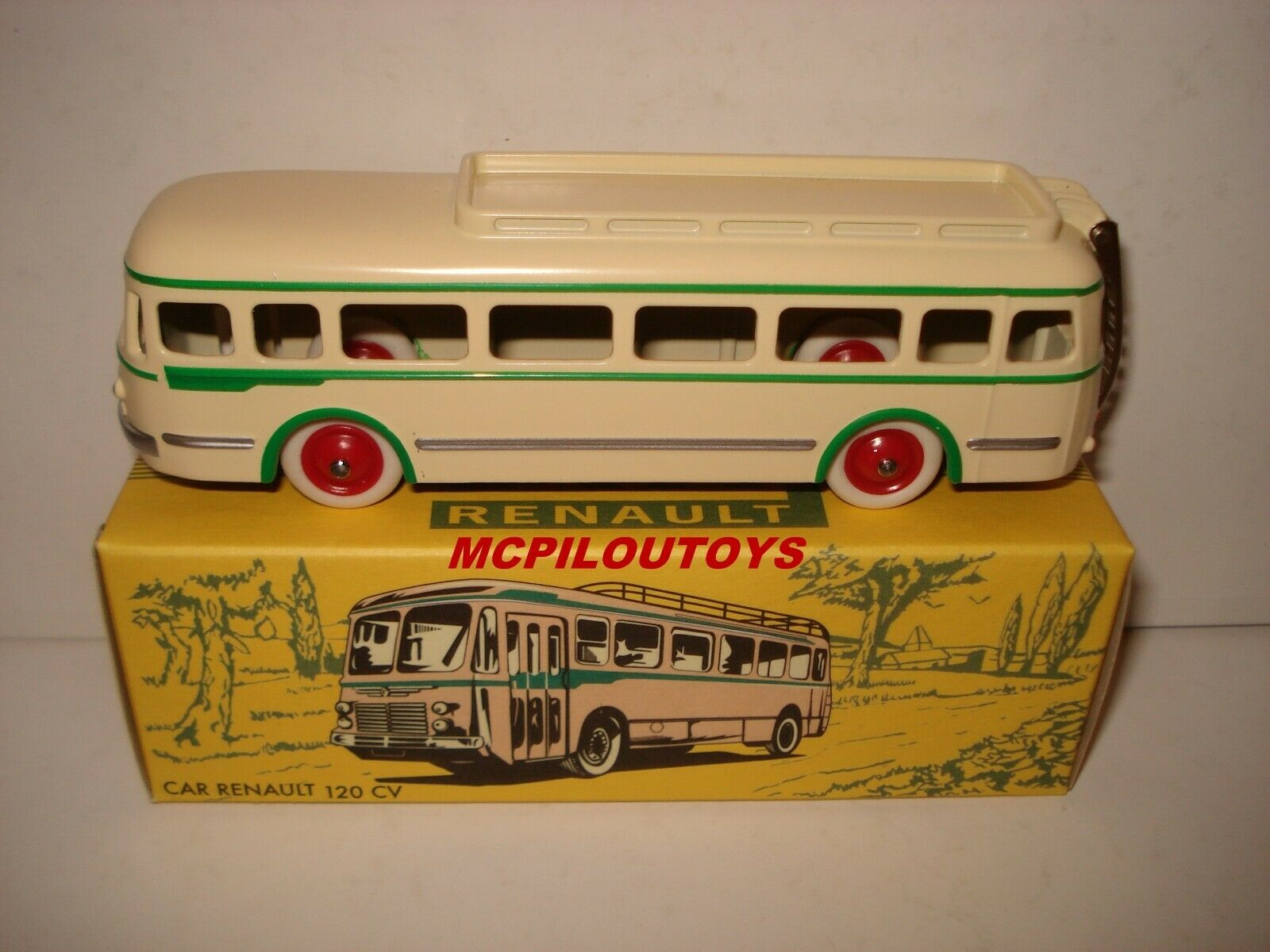 NOREV ICJ EUROPARC RENAULT BUS 120CV CREAM AND GREEN REFERENCE C34002