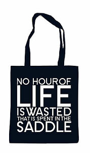 No Hour Of Live Is Wasted Bag Tasche Black Reiten Zitat Pferde Reitsport Pony Li