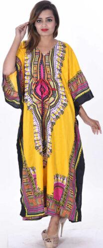 manica Kaftan Boho da Hippie da Plus cocktail Indian Size donna cielo Blu Kimono abito qwUaFnSST