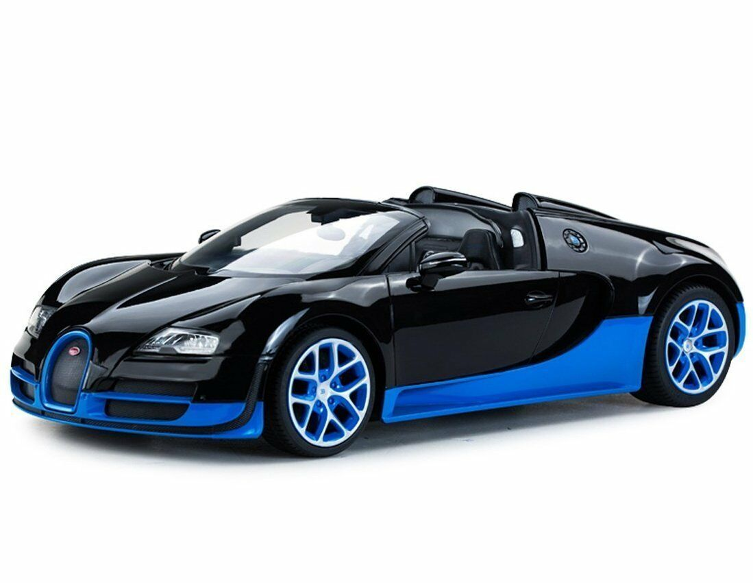 1:14 Bugatti Veyron 16.4 Grand Sport Vitesse Remoto Controllato Rc Auto Nero/Blu