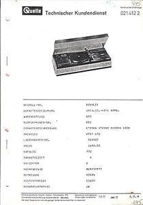 Quelle Universum Privileg Service Manual Fur 214122 Vtcf 672 Ebay