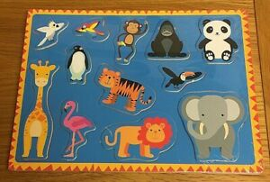 Lesser-and-Pavey-Zoo-Animals-Wooden-Puzzle-New-amp-Sealed-Free-UK-Postage