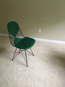 Outstanding Details About Authentic Herman Miller Eames Wire Chair With Bikini Pad Dkr 2 Dwr Green Machost Co Dining Chair Design Ideas Machostcouk