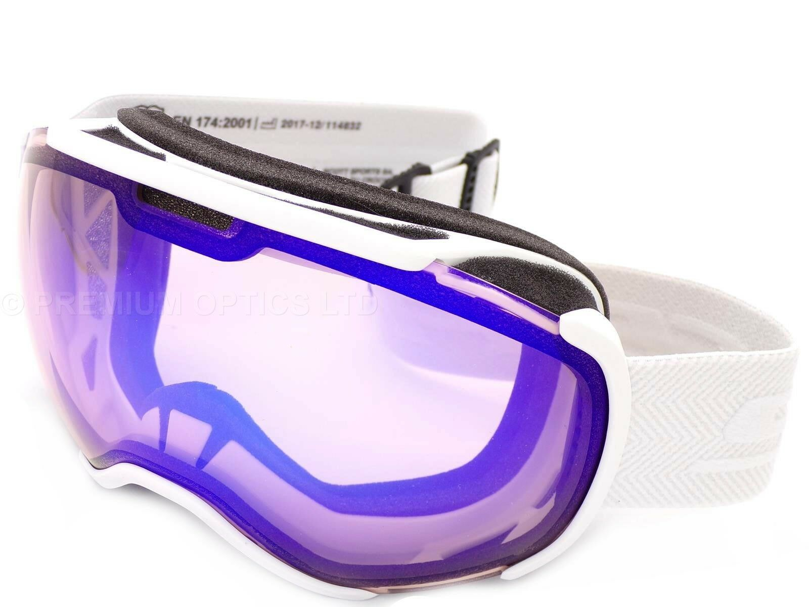 SCOTT - FAZE II White Snow Ski Goggles with Illuminator bluee Chrome Lens 267605
