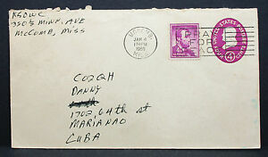 US-Uprated-Postal-Stationery-Cover-Mccomb-Lincoln-Stamp-GS-Rnd-USA-Brief-H-7745