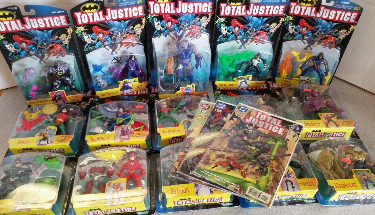 Total Justice League figure complete set Darkseid parallax Batman DC COMICS New