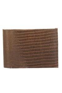 DBFL Men/'s Genuine Leather Lizard Embossed Flip ID Bifold Wallet