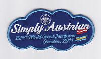 2011 World Scout Jamboree AUSTRIA / AUSTRIAN SCOUTS Contingent Patch