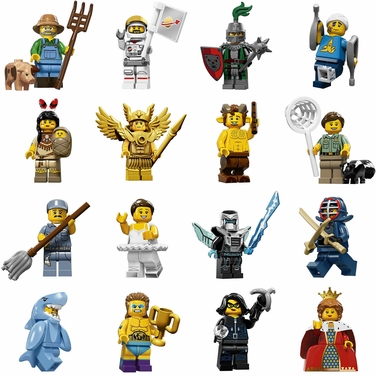 LEGO MINIFIGURE SERIE 15 15 15 LEGO 71011 SERIE COMPLETA 16 FIGURE SCEGLI PERSONAGGIO 9e455a