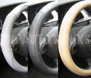 Grigio//Nero Volante in Pelle Cover in Pelle 100/% si adatta Vauxhall