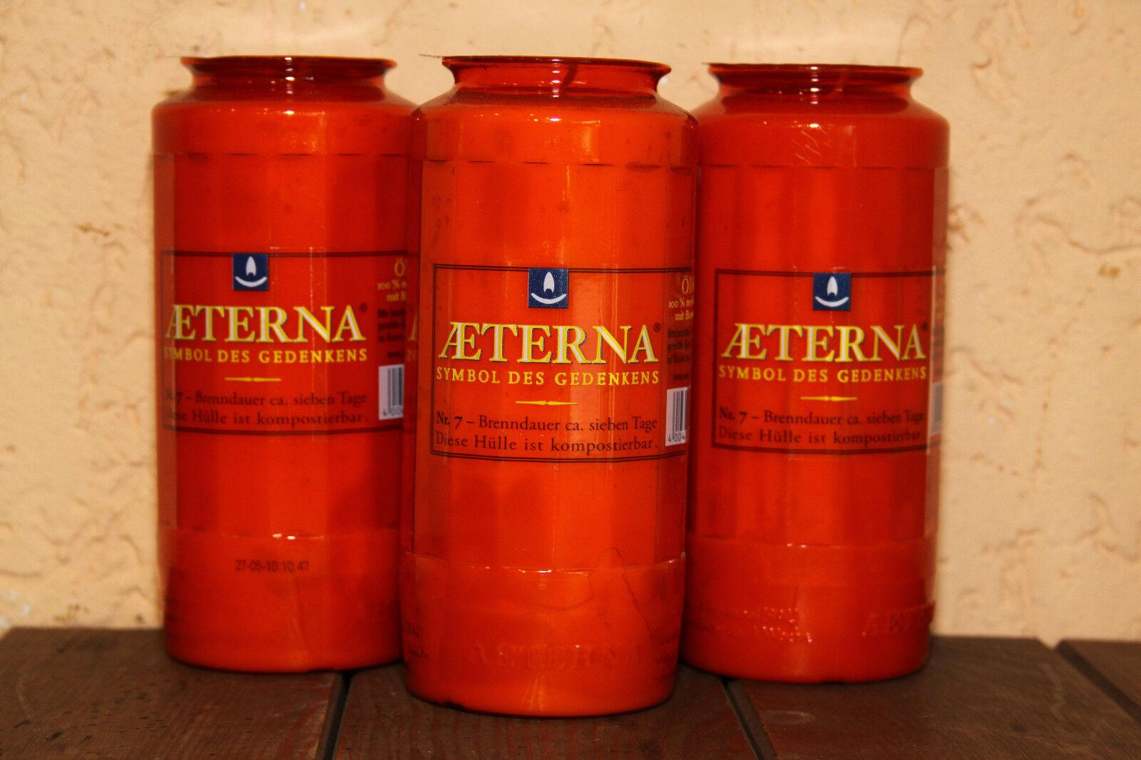 40 Grabkerzen rot Aeterna T7 Premium Öko Öko Öko Grabkerze Grablicht Grab Nr.7 | Won hoch geschätzt und weithin vertraut im in- und Ausland vertraut  6d079b