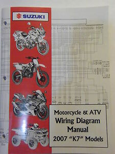 NEW 2007 SUZUKI MOTORCYCLE & ATV WIRING DIAGRAM K7 MODELS ...