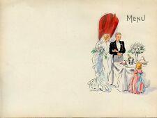MENU - VIERGE - MENU DE MARIAGE / ANNEE 1900 - FORMAT 21 CM X 15,50  CM