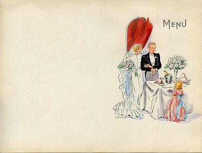 MENU VIERGE MENU DE MARIAGE // ANNEE 1900 FORMAT 21 CM X 15,50  CM