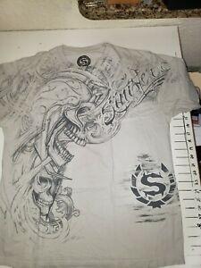 Sinister-Official-Brand-Men-039-s-T-Shirt-Black-100-Cotton-Size-Large