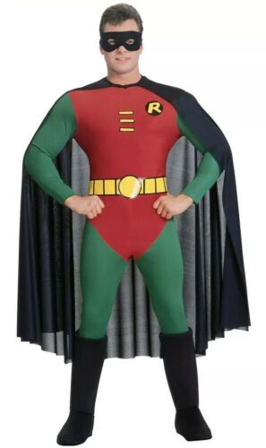 Official Adult BATMAN or ROBIN Fancy Dress Costume Outfit Mens Large