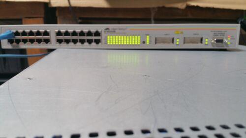 Allied Telesyn AT-8024GB 10//100TX x 24 ports Fast Ethernet switch w// 2 GBIC Bays