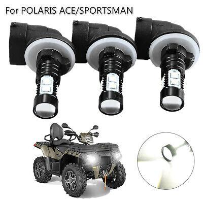 H4 9003 Cree LED Headlight Bulb For Polaris Sportsman X2 500 800 2007 2008 2009