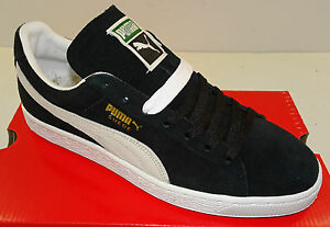 puma suede classic  men's casual shoe 35263403 black
