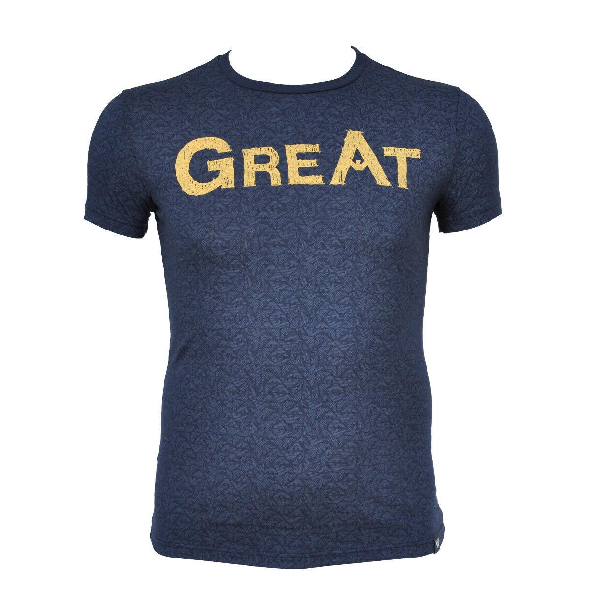 ARMANI JEANS T-Shirt Shirt Aufdruck Print 6Y6T85 6J15Z Gr.M-2XL NEU 2018