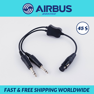 042ce3e979f Headset Adapter - Airbus   Boeing to General Aviation G.A. 5 pin XLR ...