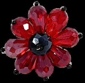 Red-Rhinestone-Beads-Flower-Ring-Jewelry-Stretch-Band-R12360