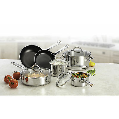 Farberware Meyer 77528, 10 Piece Stainless Steel Cookware Set