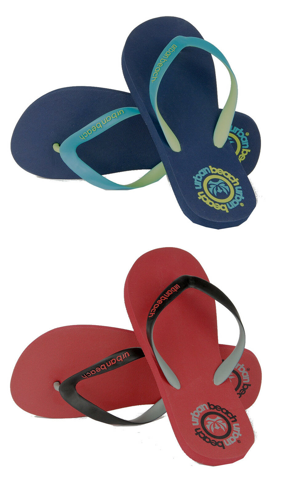 Mens ~ Corp Casual Flip Flops ~ Mens Navy or Red ~ 6095ce