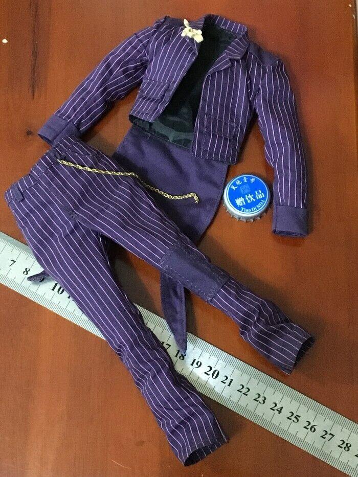Clown Clothes Set 1 6 Tuxedo Dress Coat + Pants Model For 12  Male Body Doll