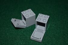 2 ~ 2x2x2 Light Gray Cabinets with Light Gray Doors ~ Bricks ~ New Lego Parts ~