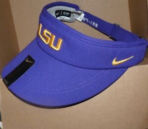 53ee19a0bd6 NEW NIKE NCAA LSU Tigers Sun Visor Hat Cap Dri Fit Men Women ...