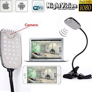 Wireless 1080p Led Hd Spy P2p Hidden Camera Table Lamp