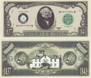 50-Martin-Van-Buren-8th-US-President-History-Bills-Lot