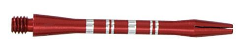 RED COLORMASTER STRIPED ALUMINUM DART SHAFTS 1 1/4