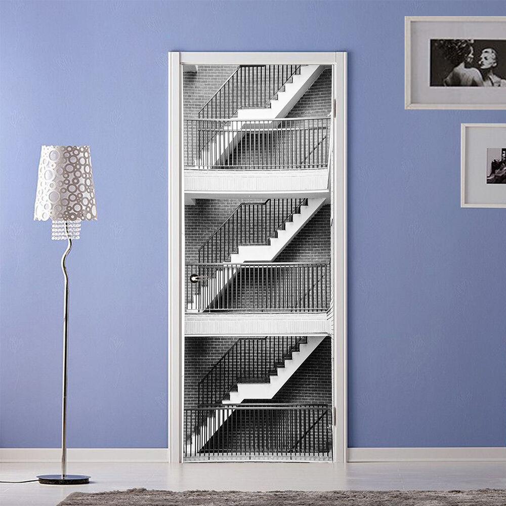 3D Treppe 755 Tür Wandmalerei Wandaufkleber Aufkleber AJ WALLPAPER DE Kyra
